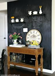 chalk board wall decor our home kitchen tour chalkboard walls chalkboards and kids rooms in decorations