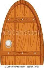 wooden old door home interior csp45818767
