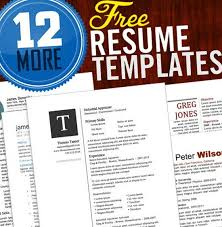 Free Cool Resume Templates Word Resume Cv Cover Letter