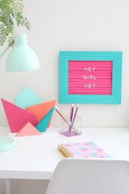 how to make a felt marquee letter board