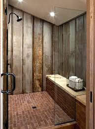 galvanized shower walls salvaged galvanized steel siding used on shower walls with brick floors cleaning galvanized