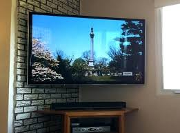 flat screen tv on wall wall mounted panel wall mount flat screen incredible stands inch corner