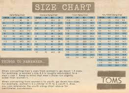 Tiny Toms Size Chart Inches Wearing Toms Shoes Mens Toms Black Toms