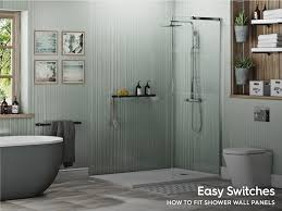 how to fit shower wall panels in your