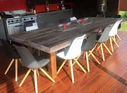 ... Dining Tables, Appealing Gray Rectangle Rustic Wooden Pallet Dining  Table Stained Ideas: unique pallet ...