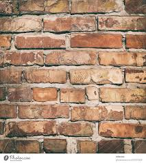 red brick wall with cement fragment of