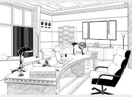 Art drawing office Desk Background Drawing Of Perry Whites Office At The Daily Planet Used In The Comic Book Adaptation The Art Of Chachi Hernandez The Art Of Chachi Hernandez