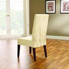slip covers chair. Amazon.com: Sure Fit Soft Suede - Shorty Dining Room Chair Slipcover Cream (SF38636): Home \u0026 Kitchen Slip Covers