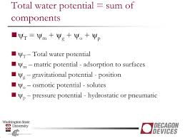 Water Potential Equation Ppt Soil Water Potential Measurement Powerpoint Presentation Id