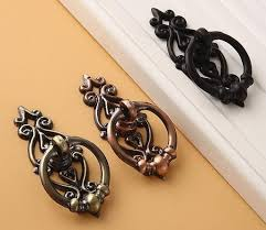 drawer pulls for furniture. drawer handle antique bronze copper black drop ring pulls handles cabinet pull knob furniture for 1