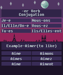 french er verbs er verbs french verb reference sheet by gildedmelody on deviantart