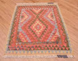 attractive hand woven afghan veg dye kilim rug is off square proportion