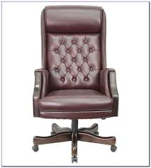 brown leather tufted desk chair desk home design ideas