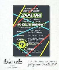 Free Laser Tag Invitation Template Awesome Laser Tag Party Invitation Template Free And Laser Tag
