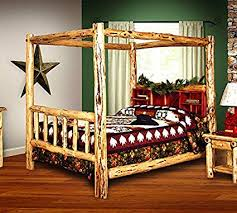 Amazon.com: Rustic Red Cedar Log Bed- FULL SIZE - Canopy Bed - Amish ...