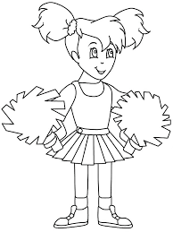 Small Picture awesome Outstanding Cheerleader Coloring Pages Online Little Girl