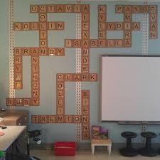 Scrabble Names Wall Art Scrabble Names Classroom Wall Jessica Meacham