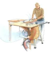 table saw dust collection article image table saw overarm dust collector plans