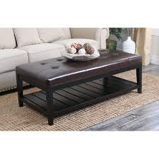 Captivating Full Size Of Coffee Table:amazing Black Leather Ottoman Coffee Table Oval Ottoman  Coffee Table ... Amazing Design