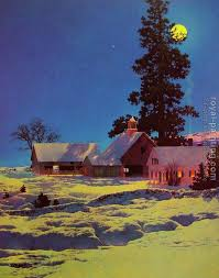maxfield parrish moonlight night winter