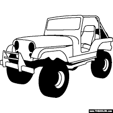 Small Picture Jeep CJ Coloring Page