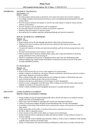 Pc Technician Resume Samples Velvet Jobs