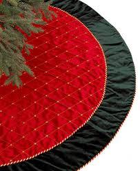 Holiday Lane Red U0026 Green Velvet Christmas Tree Skirt Created For Holiday Lane Christmas Tree