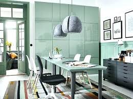 home office office tables office space interior. Office Furniture Ikea Home A Green And Grey Space With  In . Attic Ideas Tables Interior F