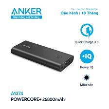 Sạc dự phòng ANKER PowerCore+ 26800mAh QC 3.0 - A1374 - Mã Giảm Giá 7
