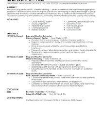 Addiction Specialist Sample Resume Custom Mental Health Specialist Sample Resume Colbroco
