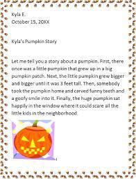 Story Prompt For Kids Pumpkin Story Worksheet On Articles For Grade ...