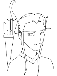 Fantasy Elf Coloring Pages Coloring Page Book For Kids