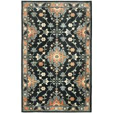black and orange area rugs black orange and white area rug