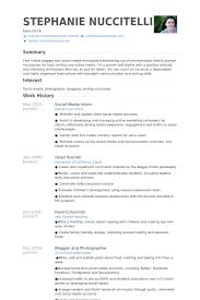 Sample Social Media Resume Social media resume example complete photoshot intern samples bleemoo 21