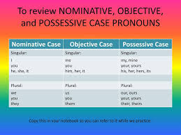 Subject Object Or Possessive Ppt Download