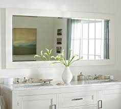 double vanity mirror throughout classic wide pottery barn idea 2