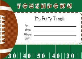 Free Football Invitation Templates Football Themed Party Invitation Template Free Free