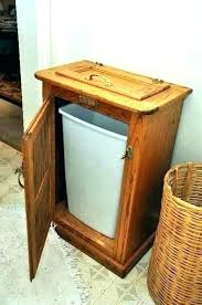 wood trash can bin wood trash cabinet kitchen garbage can storage cabinet wood trash bin combo