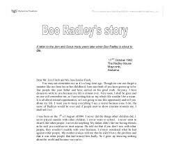 a letter to the jem and scout many years later when boo radley is  document image preview