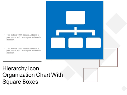 Hierarchy Icon Organization Chart With Square Boxes