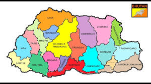map of bhutan bhutan map  youtube