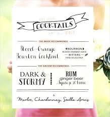 wedding drink menu. Wedding Drink Menu Template Wedding Drink Menu Templates Microsoft