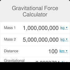 Distance Between States Chart Gravitational Force Calculator Omni