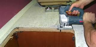 cut countertop