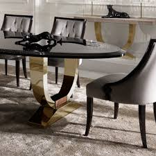 italian lacquer furniture. Italian Black Lacquered Gold Oval Dining Set Lacquer Furniture T