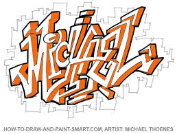 how to draw graffiti letters write