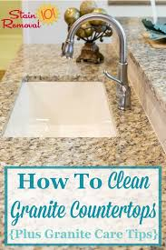 here are instructions for how to clean granite countertops as well as granite countertop care