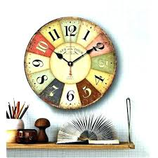 large country wall clocks kitchen wooden amusing decorative french rustic kitche