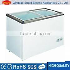 home appliances 150l glass door chest freezer with etl