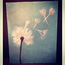 Diy Paint Ideas Dandelion Diy Canvas Painting Diy Stuff Pinterest Diy Canvas